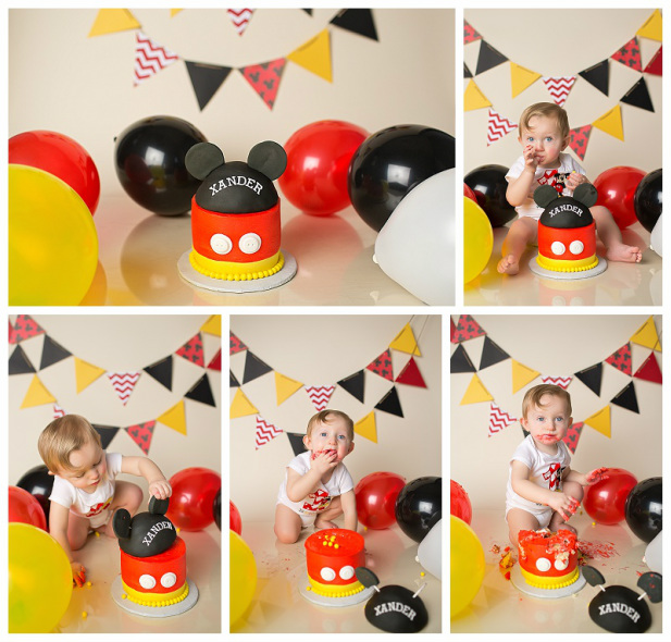 Mickey Mouse Smash Cake: Xander's One Year Portraits & Mickey Mouse Cake Smash
